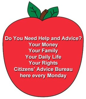 Do you need help and advice? Money, family, rights. CAB here every Monday
